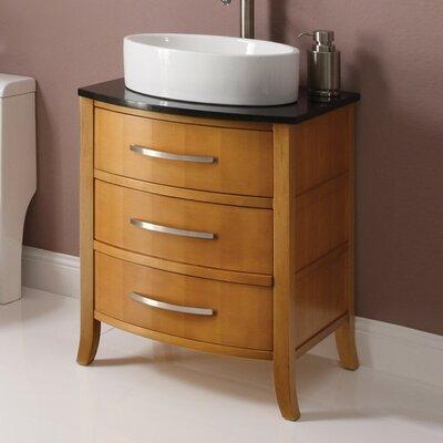 Lola 25.25 Bathroom Vanity Base Finish: Maple
