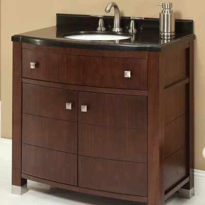 Adrianna 36.25 Bathroom Vanity Base Finish: Dark Walnut