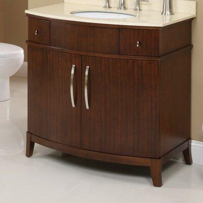 Alexandra 36 Bathroom Vanity Base Base Finish: Mahogany