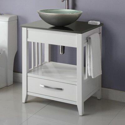 Ambrosia 24 Bathroom Vanity Base Base Finish: White