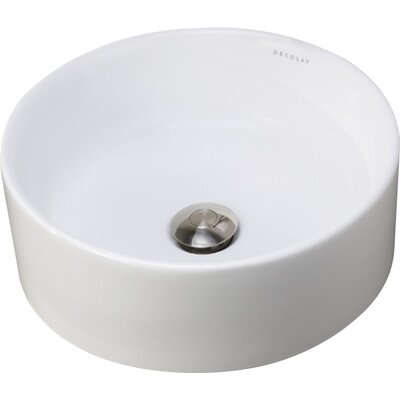 Senna Classically Redefined Ceramic Circular Vessel Bathroom Sink
