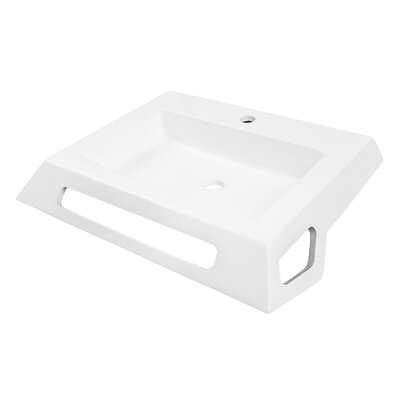 Solid Surface Lavatory 25 Wall Mount Bathroom Sink