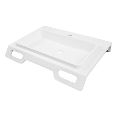 Nasira Solid Surface ADA NULL Rectangular Wall Mount Bathroom Sink