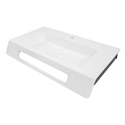 Ellie Solid Surface ADA NULL Rectangular Wall Mount Bathroom Sink