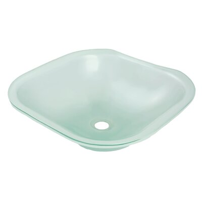 Translucence Glass Square Undermount Bathroom Sink