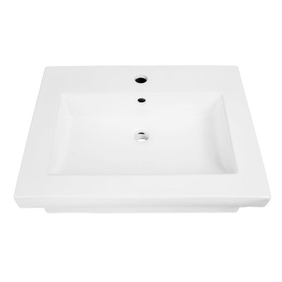 Lilac Classically Redefined Lavatory 24 Wall Mount Bathroom Sink with Overflow