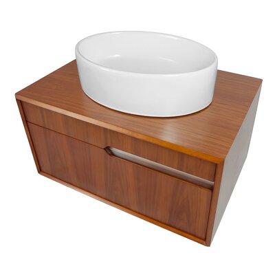Cityscape 29 Single Bathroom Vanity Base Finish: Medium Walnut