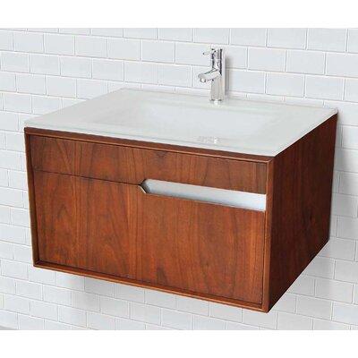 Cityscape 30 Single Bathroom Vanity Base Finish: Medium Walnut