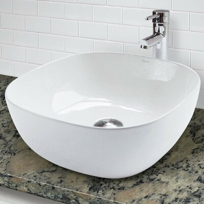 Classically Redefined Vitreous China Square Vessel Bathroom Sink