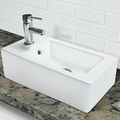 Classically Redefined 20 Wall Mounted Bathroom Sink with Overflow