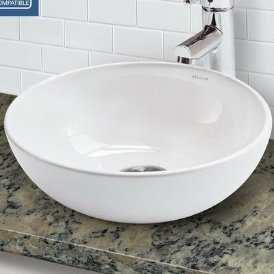 Classically Redefined Above Counter Lavatory Circular Vessel Bathroom Sink with Overflow