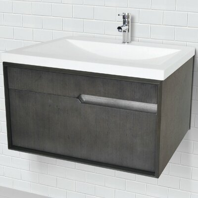 Cityscape 29.6 Wall-Mounted Single Bathroom Vanity Set