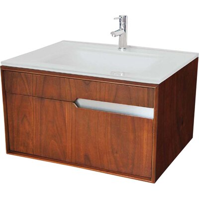 Cityscape 30 Single Bathroom Vanity Base Finish: Medium Walnut