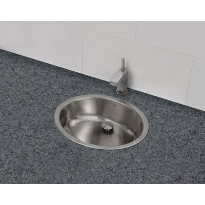 Simply Stainless Oval Undermount Bathroom Sink with Overflow Sink Finish: Brushed Steel