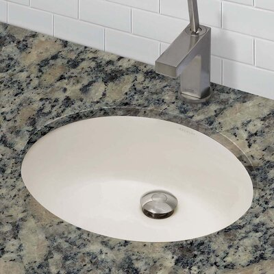 Carlyn� Classically Redefined Ceramic Oval Undermount Bathroom Sink with Overflow Finish: Bone