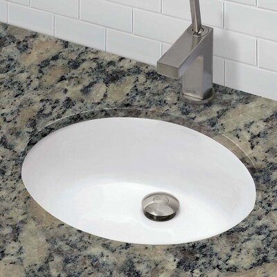 Carlyn� Classically Redefined Ceramic Oval Undermount Bathroom Sink with Overflow Finish: White