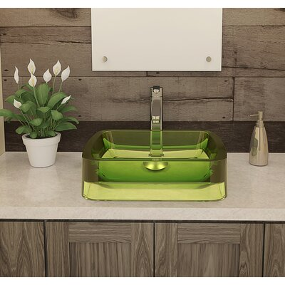 Lacee Incandescense Plastic Rectangular Vessel Bathroom Sink Sink Finish: Absinthe
