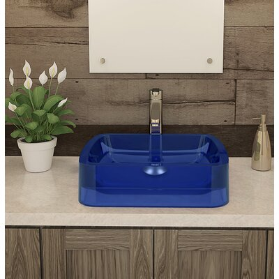 Incandescence Rectangular Vessel Bathroom Sink Sink Finish: Depth