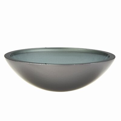 DecoLav Translucence Round 19mm Glass Vessel Bathroom Sink - Sink Finish: Painted Metallic Silver