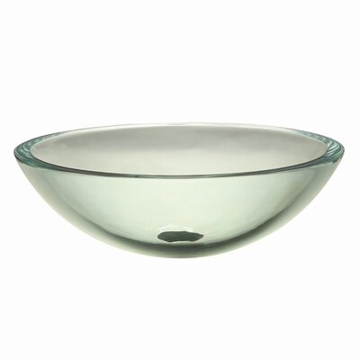 Translucence Round 19mm Glass Vessel Sink