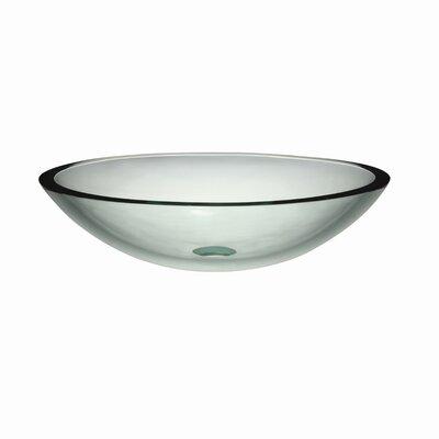 Ela Translucence Glass Oval Vessel Bathroom Sink Sink Finish: Transparent Natural