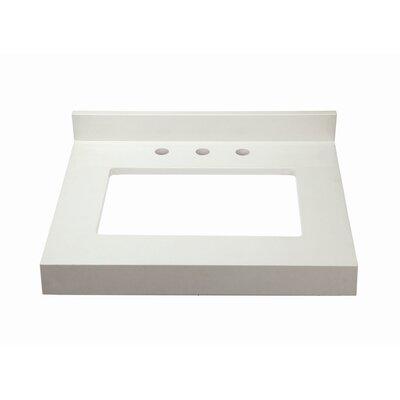 Cameron Quartz 26 Single Bathroom Vanity Top Finish: White