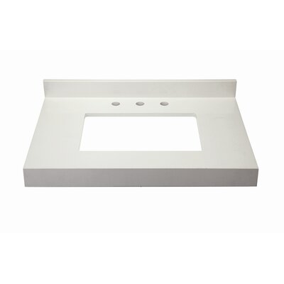 Cameron Quartz 32 Single Bathroom Vanity Top Finish: White