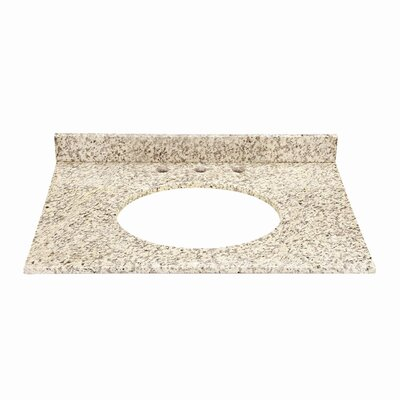 Jordan Granite Vanity Top with Backsplash Finish: Carmello