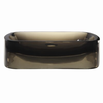 Lacee Incandescense Plastic Rectangular Vessel Bathroom Sink Sink Finish: Shadow