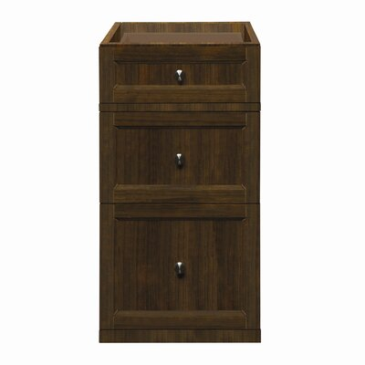 Jordan 15 Drawer Console Vanity Base Base Finish: Mahogany
