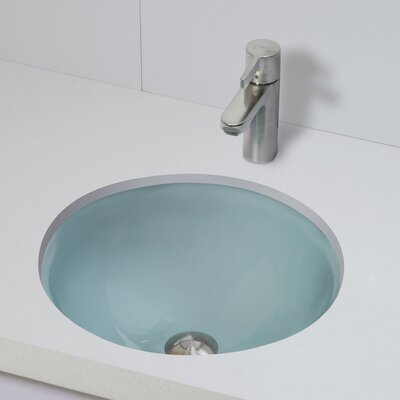 Translucence Circular Undermount Bathroom Sink Sink Finish: Frosted Natural Crystal