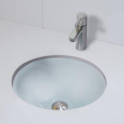 Terra Translucence Glass Circular Undermount Bathroom Sink Sink Finish: Frosted Crystal