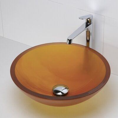 Anani Translucence Glass Circular Vessel Bathroom Sink Sink Finish: Painted Burnt Orange
