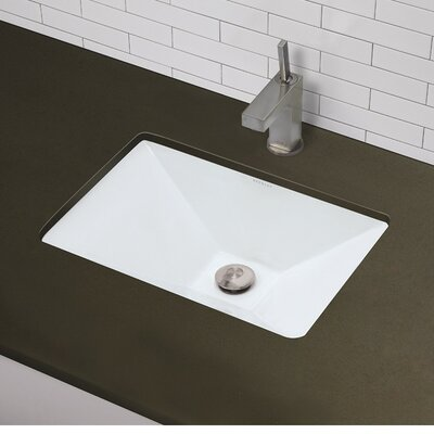 Classically Redefined Rectangular Pyramidal Undermount Bathroom Sink with Overflow Sink Finish: White