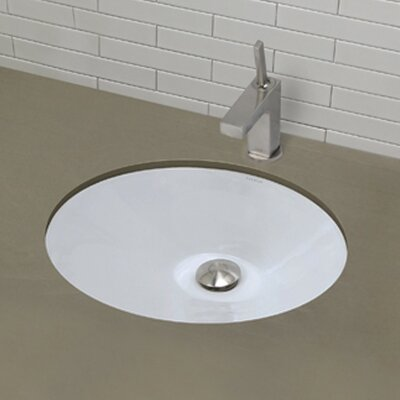 Mayah Classically Redefined Ceramic Oval Undermount Bathroom Sink with Overflow Finish: White