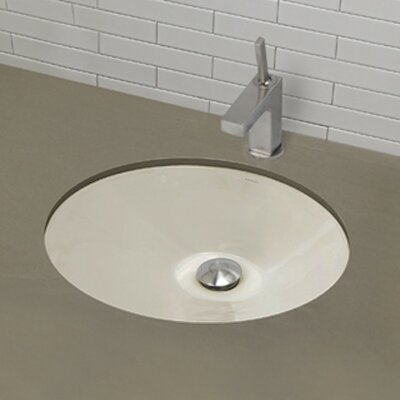 Mayah Classically Redefined Ceramic Oval Undermount Bathroom Sink with Overflow Finish: Biscuit