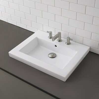 Classically Redefined Semi Rectangular Vessel Bathroom Sink