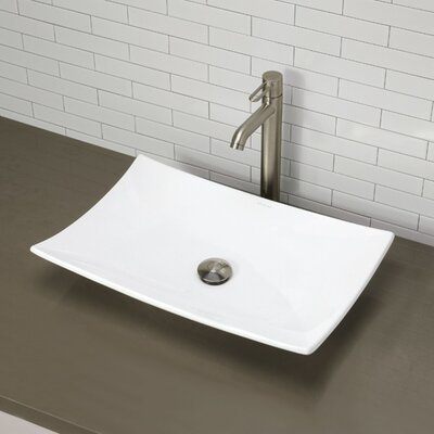 Iris Classically Redefined Ceramic Rectangular Vessel Bathroom Sink