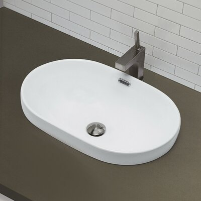 Classically Redefined Semi Oval Vessel Bathroom Sink
