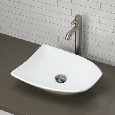 Classically Redefined Ceramic Specialty Vessel Bathroom Sink