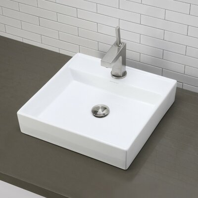 Aurelia Classically Redefined Ceramic Square Vessel Bathroom Sink