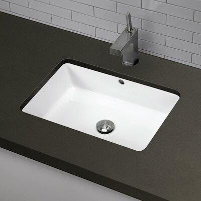 Classically Redefined Rectangular Undermount Bathroom Sink with Overflow