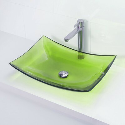 Incandescence Rectangular Vessel Bathroom Sink Sink Finish: Absinthe