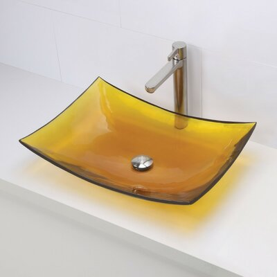 Darya Incandescense Plastic Rectangular Vessel Bathroom Sink Sink Finish: Honeycomb