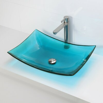 Incandescence Rectangular Vessel Bathroom Sink Sink Finish: Lagoon