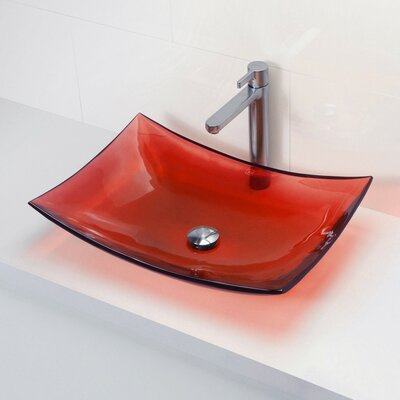 Darya Incandescense Plastic Rectangular Vessel Bathroom Sink Sink Finish: Rage
