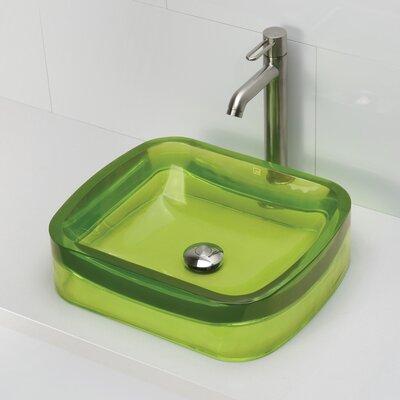 Incandescence Rectangular Vessel Bathroom Sink Sink Finish: Absinthe