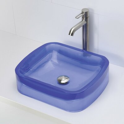 Incandescence Rectangular Vessel Bathroom Sink Sink Finish: Atmosphere