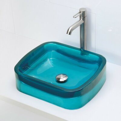 Lacee Incandescense Plastic Rectangular Vessel Bathroom Sink Sink Finish: Lagoon