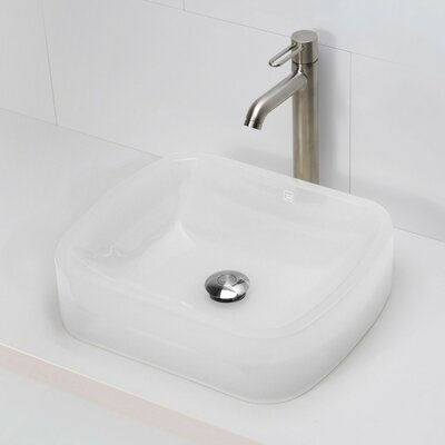 Lacee Incandescense Plastic Rectangular Vessel Bathroom Sink Sink Finish: Mist